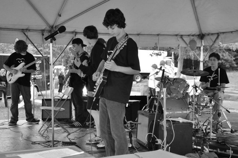 Avon Days - Paul Howards Valley School Rock Band plays at Avon Day's