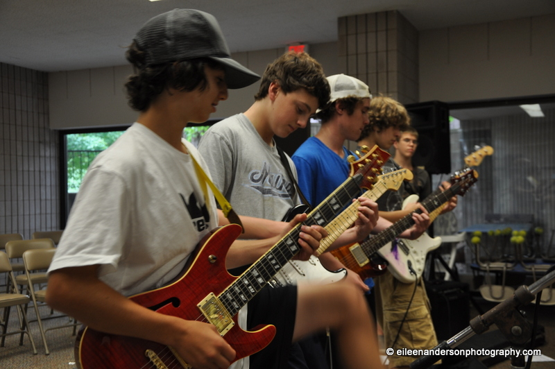 Rehearsal of Summer Rock Band Class before the big performance!